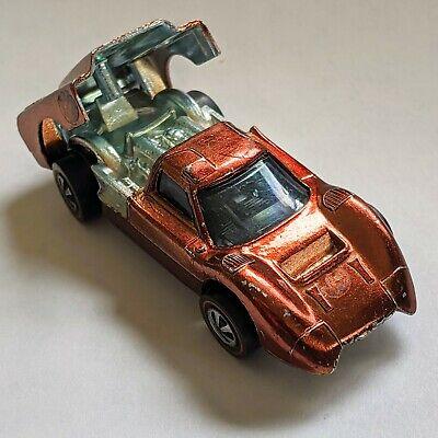 Original VINTAGE 1967 HOT WHEELS REDLINE FORD J CAR J-Car Metal BACK OPENS!