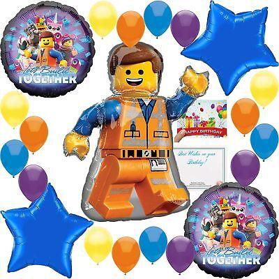 Lego Movie 2 Deluxe Balloon Decoration Bundle ](Lego Balloons)