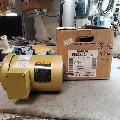 New Baldor 1 Hp Electric Ac Motor 575v 1760 Rpm 56c Frame 3 Phase Vem3546-5