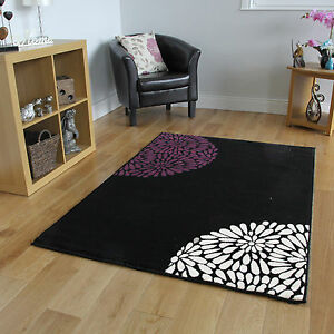 Living Room Rugs Cheap : Small Large Purple Aubergine Modern Rugs Quality New Cheap ...