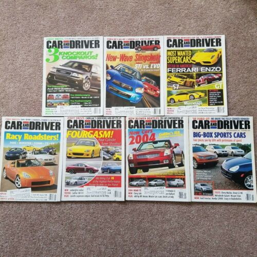 May-Nov 2003 Car And Driver Magazine, 7 Issues