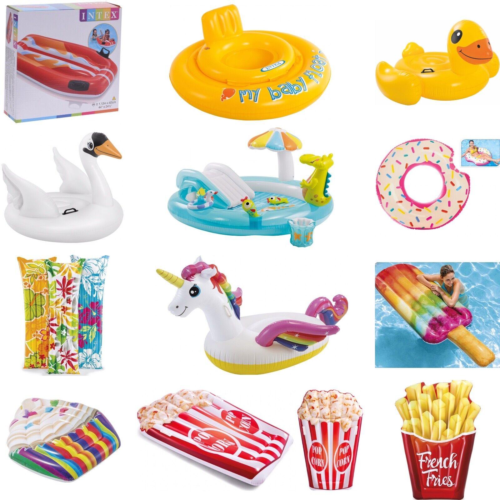 INTEX Luftmatratze Schwimmtier Schwimmring Badeinsel Wasser Kinder Baby Pool
