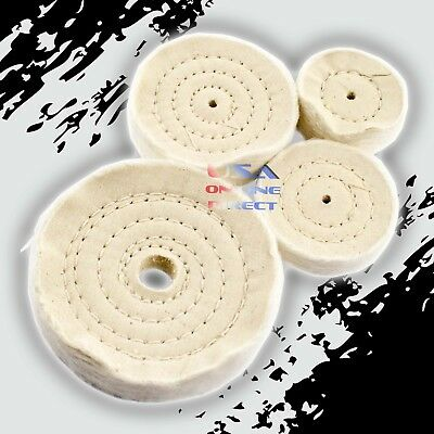 COMBO Spiral Sewn Stitch Cotton Buffing Wheels Metal Polishing Buff Pad Jewelry  ()