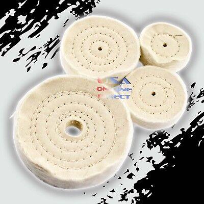 COMBO Spiral Sewn Stitch Cotton Buffing Wheels Metal Polishing Buff Pad Jewelry