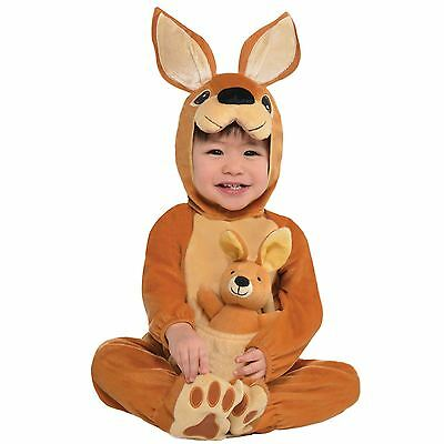 Baby Känguru Jumpin Joey Kostüm Babys Kleinkinder Tier Kostüm Outfit Zoo Känguru Baby Kostüm