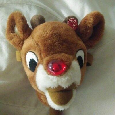 Plush Stick Pony - Dandee RUDOLPH Reindeer Stick Pony Hobby Horse Musical Light-Up Christmas Plush