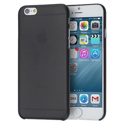 iPhone 7 Slim Case. Feather Light Hard Plastic Protective Cover. Black Feather Slim Case