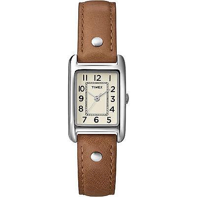 Timex T2N905, Women's Weekender Brown Leather Watch,  T2N9059J