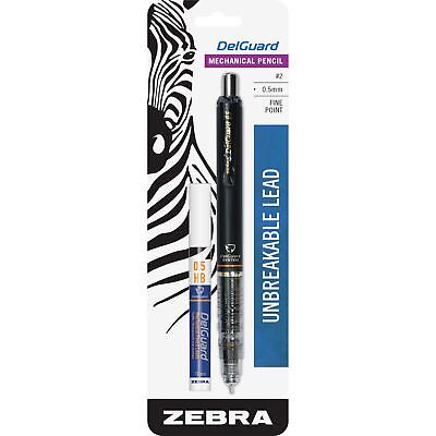 Zebra Mechanical Pencil 0.5 Mm Unbreakable Lead Black 58611