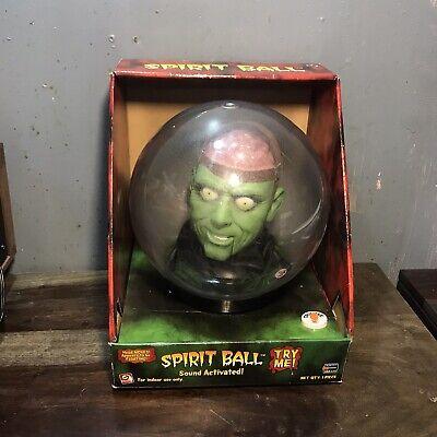 "Gemmy Halloween 14"" Spirit Crystal Ball Animated Green Brain Monster - UNUSED"