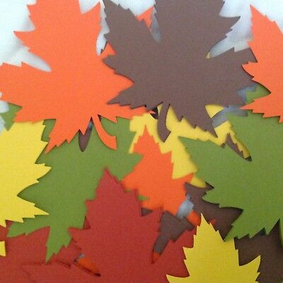 100 Large  4 inch Maple Leaf Cut Outs Fall Die Cut Leaves - Fall Cut Outs