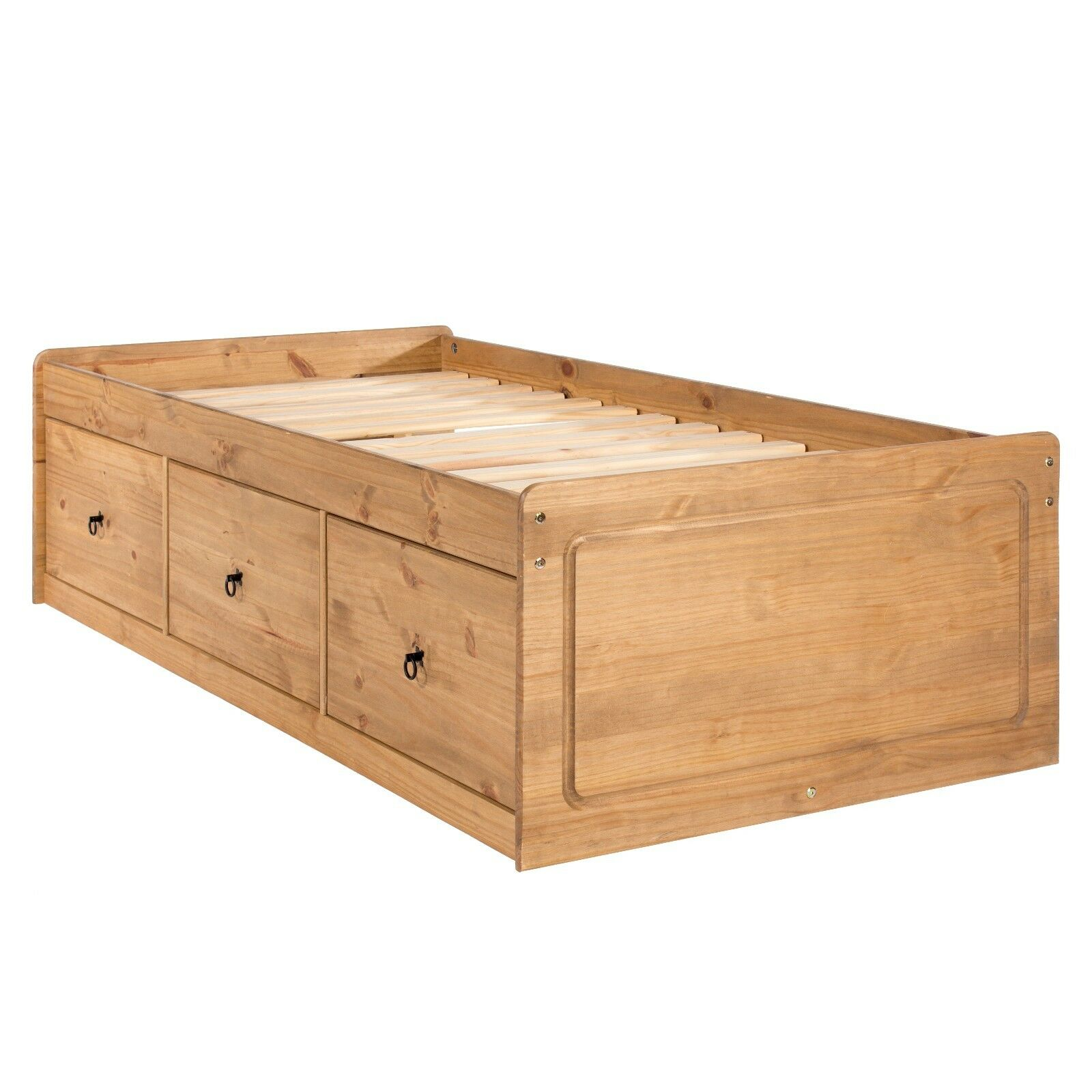 Childrens Bed Cabin Bed With Drawers Thule Solid Pine Wood Bedroom Furniture Ebay