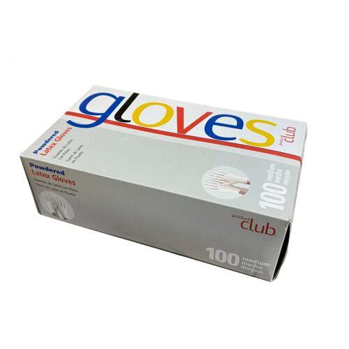 Product Club Latex Powdered Gloves MEDIUM 100 Pieces