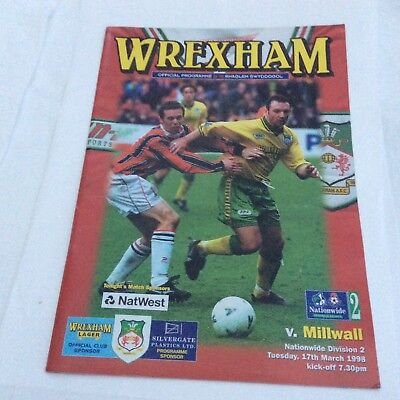 Wrexham v Millwall Nationwide  Division 2 March 1998