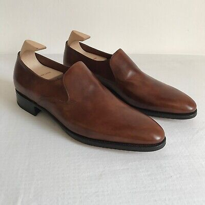 New John Lobb Elm rare brown leather loafers 7E rrp £1325