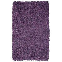 Purple shag leather rug- very unique
