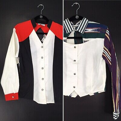 Pair of Womens Sexy Country Western Tops For Line Dancing Or Rodeo Costume M / L