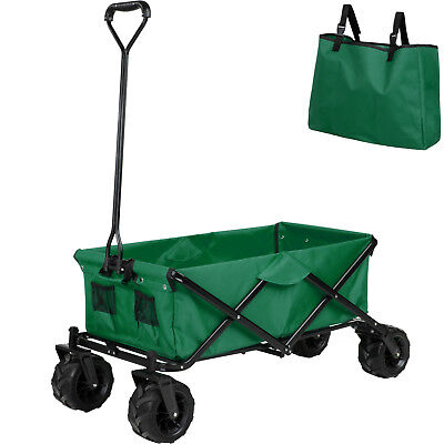 Chariot de transport Jardin Plage Charrette à main Remorque Pliable Pliante Vert