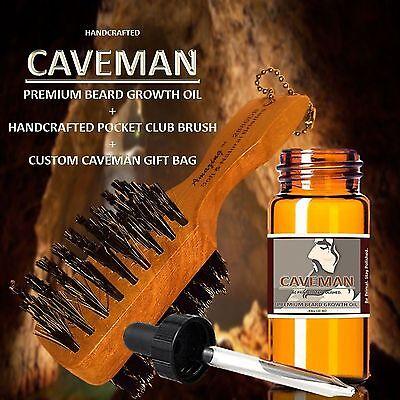 Caveman® FACIAL HAIR GROWTH OIL GROW MUSTACHE BEARD GROWTH SIDEBURNS GROWTHER