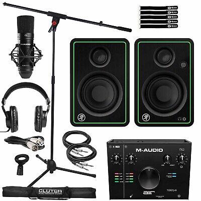 Home Recording Bundle M-Audio Air 912 Interface Mic Headphones & CR3-X Speakers