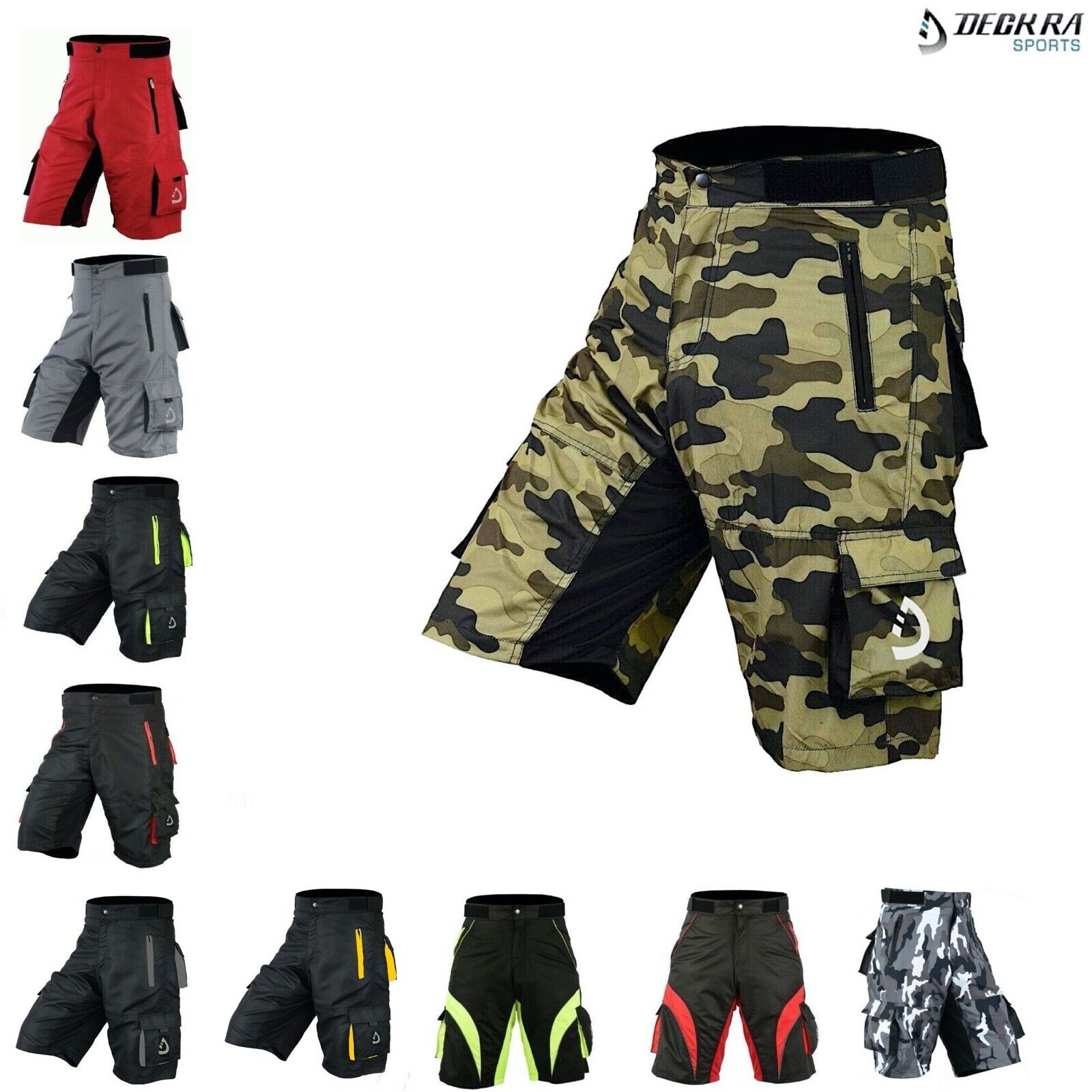 Deckra Mens Cycling MTB Short High Quality Padded Off Road S