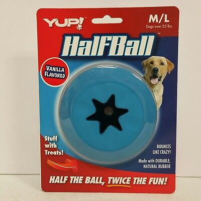 Half Rubber Ball (HALF BALL Durable Rubber Bounce Treat Dispensing Inside Medium/Large Dog)
