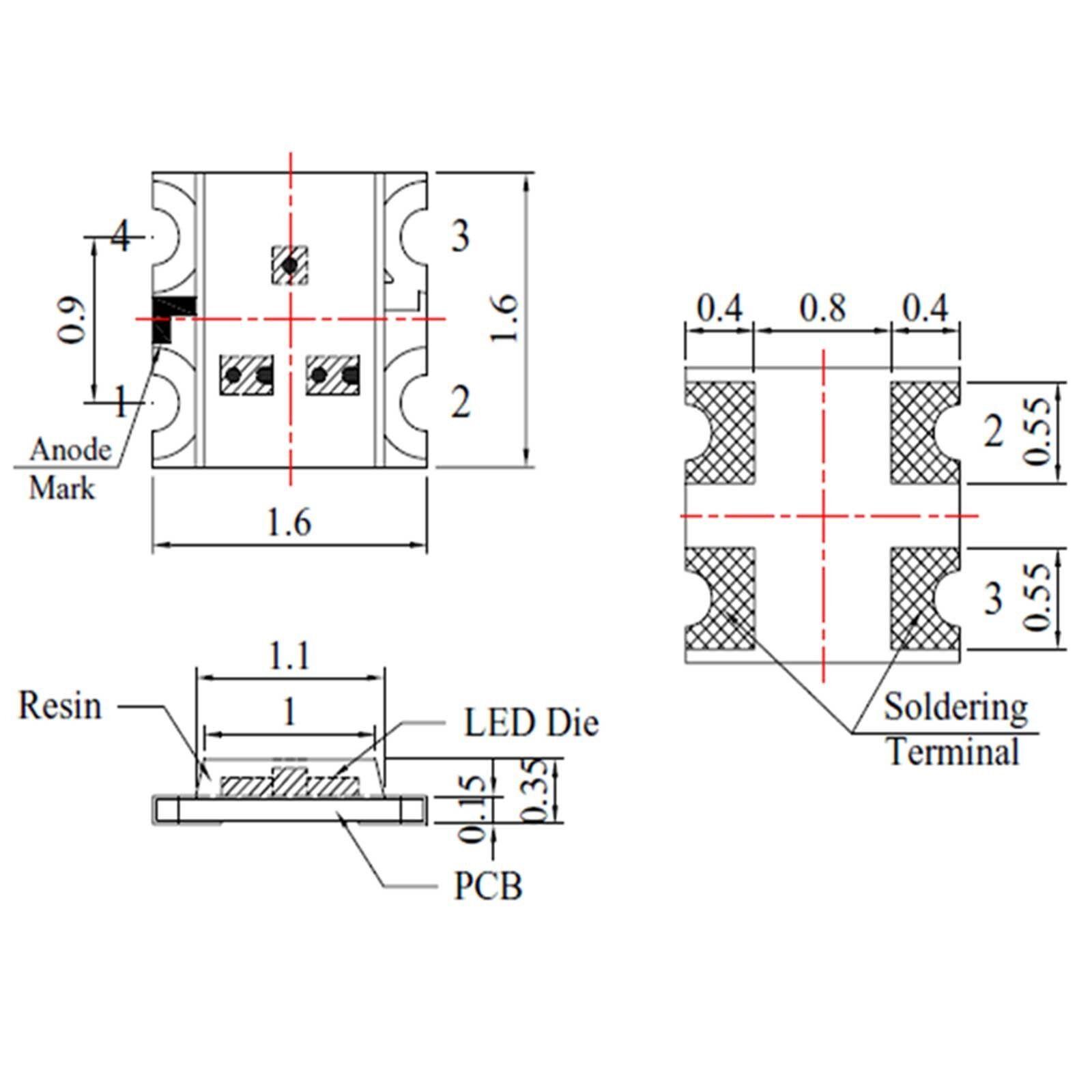 5 x 12v 0606 0603 Blue Nano Flashing SMD Pre-Wired LED Light Blinking 9v 18v