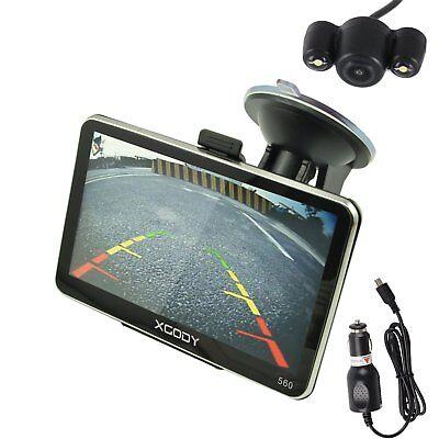 XGODY 5'' GPS AUTO LKW PKW Navigationsgerät LED Rückfahrkamera Bluetooth EU Kart