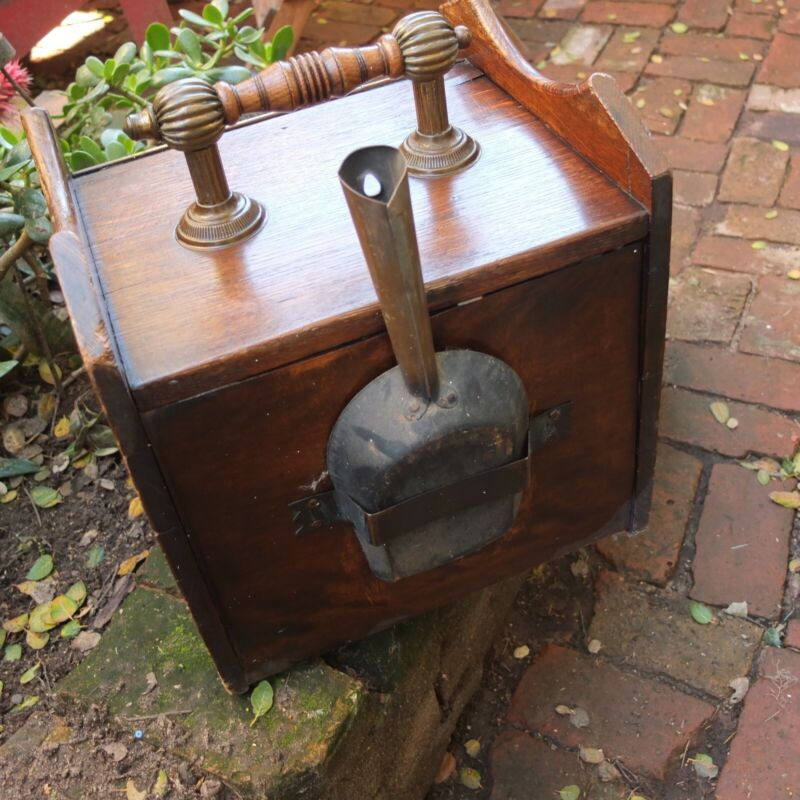 Victorian coal box with insert and hand shovel