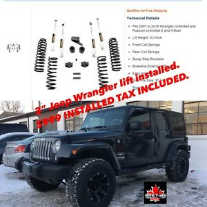 "3"" Jeep Wrangler Lift Kit 999.00 Installed Tax included"