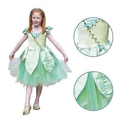 Kinder Mädchen Deluxe Wald Fee Waldland Nymphe Party Kostüm
