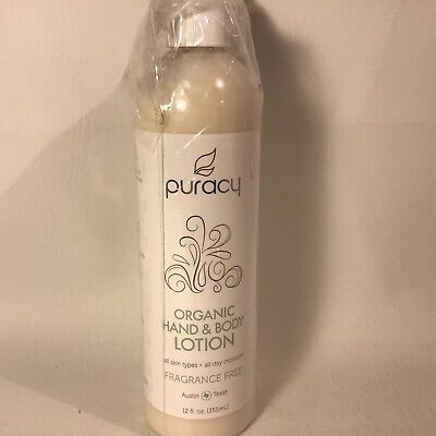 NEW Puracy Organic Hand & Body Lotion Best Natural Moisturizer 12 oz With