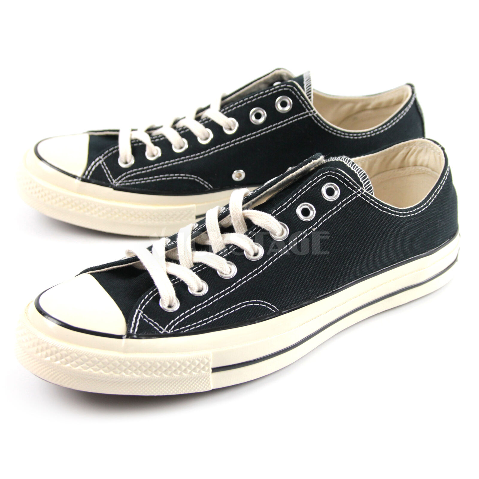 90d81236863d17 Converse Chuck Taylor All Star Low Top 1970s OG Black Triple star Label  144757C