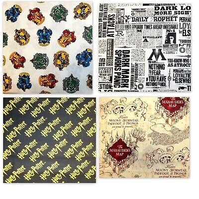 """Fabric Harry Potter by Camelot 112cm (44"""") wide Licensed FQ, 1/2m 1m 4 Designs"""