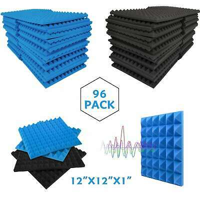 "96 Pack Egg Crate Acoustic Foam Panels Studio Soundproofing Tiles 12""X12""X1"""