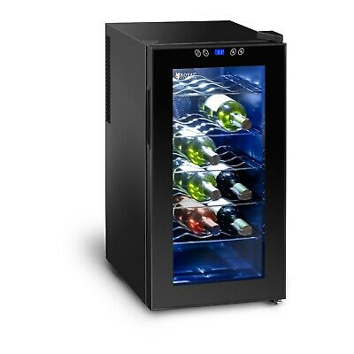 Small Wine Fridge Mini Drinks Refrigerator Cooler Chiller Hotel 50L 18 Bottles