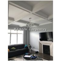 CROWN MOULDING WAINSCOTING COFFERED WAFFLE CEILING TRIMWORK
