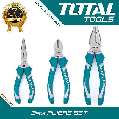 Total Tools  - 3PCS Pliers set High Leverage Soft Grip Heavy Duty Hand Tools
