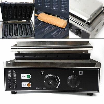 Commercial Electric Nonstick 6pcs Waffle Maker Baker Hot Dog Crispy Machine 110v
