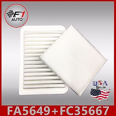 FA5649 FC35667 PREMIUM ENGINE & CABIN AIR FILTER for 2007-2017 TOYOTA CAMRY