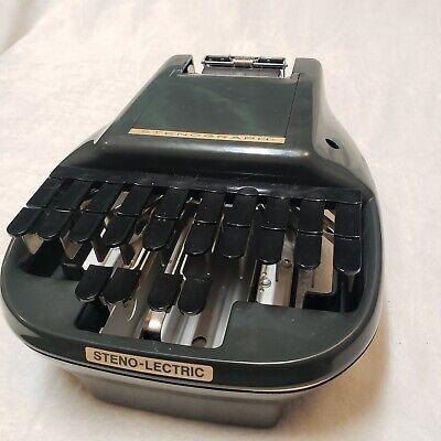 Vintage Steno-lectric Stenograph Machine Stenographer Court Reporter