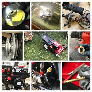 Lawnmower tuneup, service, repair, and advice.