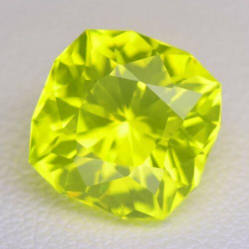 7.63ct Yellow Color Lab Created Garnet (YAG) Loose Stone
