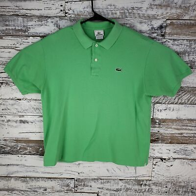 Lacoste Mens Polo Shirt Golf Rugby Short Sleeve Green Size 6
