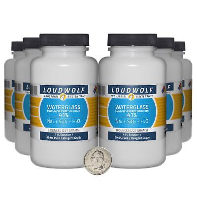 Sodium Silicate 3 Pounds 6 Bottles 99.9 Pure Reagent Grade 41 Solution