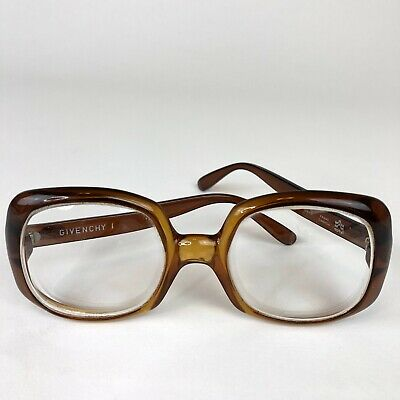 Givenchy Vintage 1970's Brown Square Eye Glasses Frames (Givenchy Oversized)
