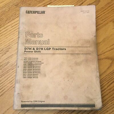 Cat Caterpillar D7h Lgp Parts Manual Book List Tractor Bulldozer 79z 80z1-3999
