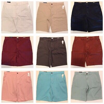 "NWT GAP Flex 10"" Khaki Shorts 31-32-33-34-36 Beige Tan Blue Pink Gray Green"