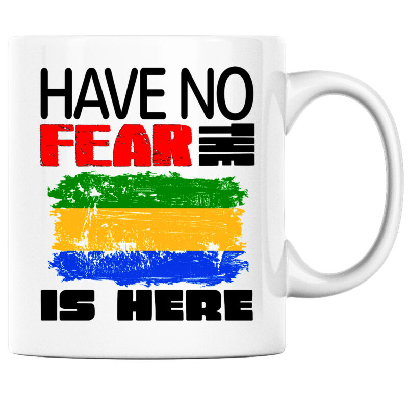 Have No Fear the Gabonese is Here Funny Coffee Mug Gabon Heritage Pride