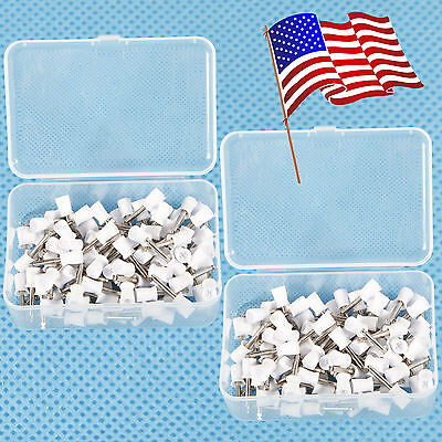 Usa 200pcs Dental Polishing Polish Cups Prophy Cup Latch Type Rubber White P12